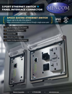 5-PORT ETHERNET SWITCH in PANEL INTERFACE CONNECTOR