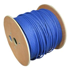 Ethernet, Shielded, Raw Spool Cable, 8 Pole, 26awg, 500 ft, Blue, PVC