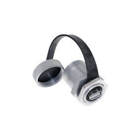 Port Adapter with USB Style B female to Style A female, in a M25 housing, UL508A, UL50, UL50E