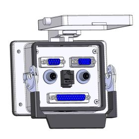 Panel Interface Connector with, DB9, DDB15, DB25, 6M and, RJ45, in a 32 housing