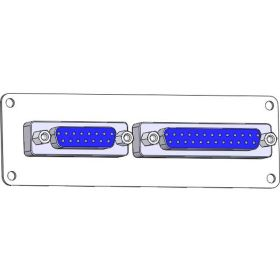 Panel Interface Connector with, DB15, DB25, size 24 plate and connectors only