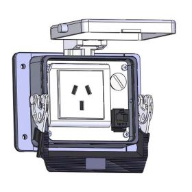 Panel Interface Connector with China 10amp outlet, RJ45, in a 32 housing