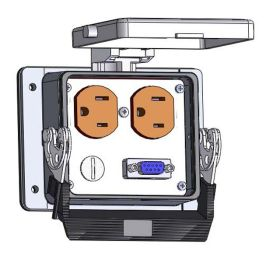 Panel Interface Connector with Duplex outlet, DB9F, in a 32 housing