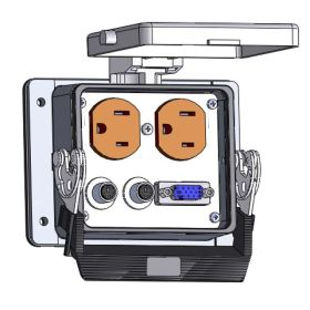 Panel Interface Connector with Duplex outlet, DDB15, 6M, in a 32 housing