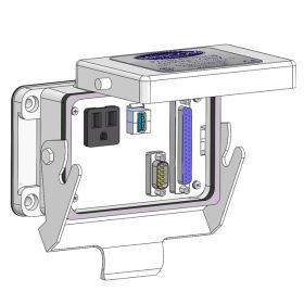Panel Interface Connector with Simplex outlet, Hi-Density 15 Pin D-Sub Male Ext/Female Int, 37 pin D-sub, form A USB to form A USB, in a 48 housing