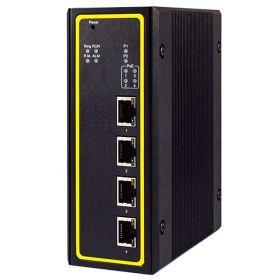 4-Port Managed Gigabit Layer-3 Switch, Profinet & Ethernet/IP Ready, Aluminum Housing