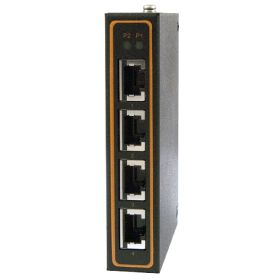 4-Port Unmanaged Fast Ethernet Switch, with Profinet Connectors, Slim Aluminum housing