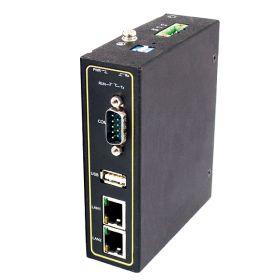 1-Port Advanced Protocol Gateways, RS-232/422/485, DB9(M), 2 x RJ45 Ports with PoE, USB Type A, Metal Housing