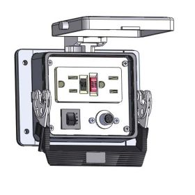 Panel Interface Connector with GFCI Duplex outlet, 6M, in a 32 housing