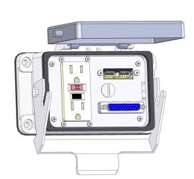 Panel Interface Connector with GFCI Duplex outlet, DB25, 2 x USB, in a 48 housing