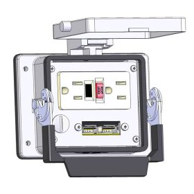 Panel Interface Connector with GFCI Duplex outlet, 2 x USB, in a 32 housing