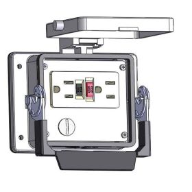 Panel Interface Connector with 20amp GFCI Duplex outlet, in a 32 housing