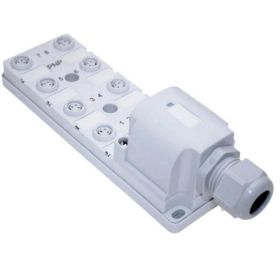 JAN Junction Blocks, 3 Pin, 8 Port, PNP, Field Wireable Home Run Connector