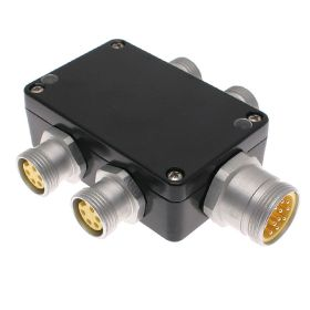 JIN Junction Blocks, 5 Pin, 4 Port, No Led, MIN Size III Home Run Connector