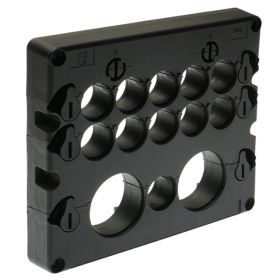 KADL Cable Entry System Frame, 13 Entries, 11 x small grommet (3-16.5mm) and 2 x large grommets (15-32.5mm) ordered separately