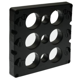 KADL Cable Entry System Frame, 9 Entries, 3 x small grommet (3-16.5mm) and 6 x large grommets (15-32.5mm) ordered separately