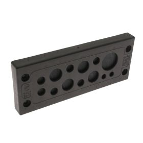 KADP Cable Entry Plate, 13 Entries, 2 x 3.0-5.5mm, 6 x 4.1-8.1mm, 4 x 9.0-14.0mm, and 1 x 14.0-20.0mm