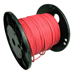 Ethernet, Shielded, Raw Spool Cable, 4 Pole, 24awg, 1000 ft, Red, TPE