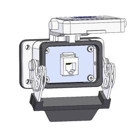 Panel Interface Connector with, RJ45, in a 06LS housing