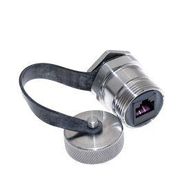 Port Adapter with, RJ45, in a M25 stainless steel housing, UL508A, UL50, UL50E