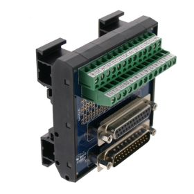 T35 DIN Rail Modules with 25 Pin Male/Female D-Sub and Terminal Block