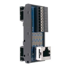 T35 DIN Rail Modules with RJ45 and 9 Pin Spring Clamp Terminal Block
