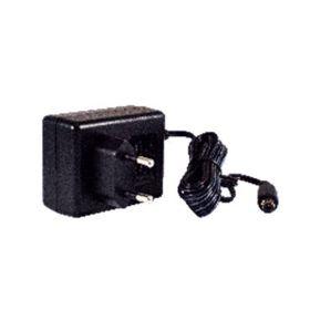 Lockable DC jack (5.5/2.1/9.5 mm) power adaptor, 100~240VAC input, 1.25A @ 12 VDC output, EU plug, LV6