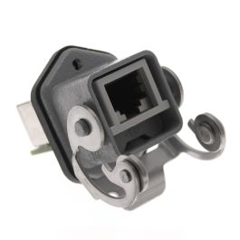 Standard, CJ series, RJ45 Female Rectangular Base and Insert, with 4 Data Contacts, size 21.21