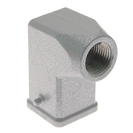 Standard, Rectangular Hood, size 21.21, 2 Pegs, Side .375-NPT cable entry