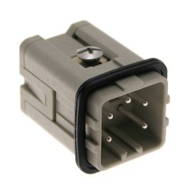 Standard, CKS series, Male Rectangular Insert, size 21.21, 5 pin, 10 amp, Standard Spring