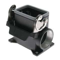 Aggressive, Rectangular Base, Single Latch, Surface mount, size 44.27, 2 Side PG29 cable entries, High construction