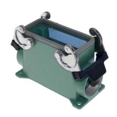 Aggressive, Rectangular Base, Double Latch, Surface mount, Size 77.27, 2 Side PG29 cable entries, High construction