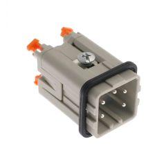 Standard, CKS series, Male Rectangular Insert, size 21.21, 5 pin, 10 amp, Squich Spring
