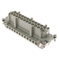 Standard, CNE series, Female Rectangular Insert, size 104.27, 24 pin, 16 amp, Screw