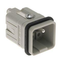Standard, CQ series, Male Rectangular Insert, size 21.21, 5 pin, 16 amp, Crimp