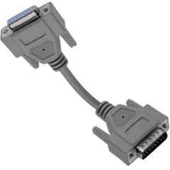 Panel Interface Connector, 15 pin D-sub male to female cable, 25'