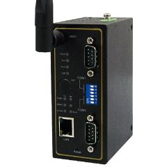 Wireless 802.11 b/g/n Modbus Gateway with 2 Serial port, 1 Ethernet, DB9(M), Fast P2P, One antenna, Metal Housing