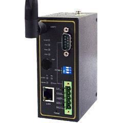 Wireless 802.11 b/g/n Modbus Gateway with 1 Combo Serial port, 1 Ethernet, Fast P2P, One antenna, Metal Housing