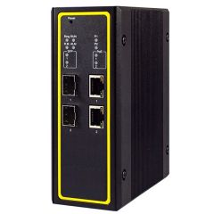 4-Port Managed Gigabit Layer-3 Switch with 2 PoE and 2 SFP, Profinet & Ethernet/IP Ready, Aluminum Housing