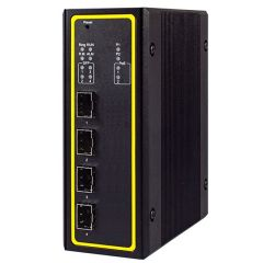 4-Port Managed Gigabit Layer-3 Switch with 4 SFP, Profinet & Ethernet/IP Ready, Aluminum Housing