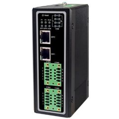 Industrial 4-Port Modbus Gateway, TB5, RS-232/422/485, 2 SFP Gigabit Uplink Ports, 3 KV Isolation, Metal Housing