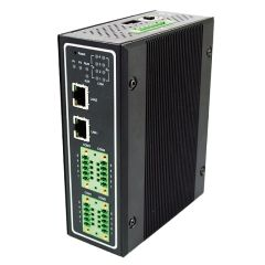 Industrial 4-Port Modbus Gateway, TB5, RS-422/485, 2 Fast Ethernet RJ45 ports, 3KV Isolation, Metal Housing