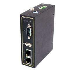 1-Port Industrial Serial Device Server, RS-232/422/485, DB9(M), USB Type A, Metal Housing