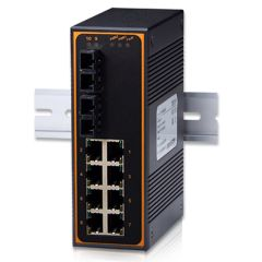10-Port Unmanaged Ethernet Switch with 2 Single-mode Fiber Optic Gigabit Uplinks, 10 KM, Metal Housing