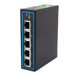 4-Port Unmanaged Gigabit Ethernet Switch, ATEX certified, Profinet Connectors, Optional PoE, SECC housing