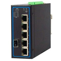 6-Port Unmanaged Gigabit Ethernet Switch with 1 SFP, ATEX certified, Profinet Connectors, Aluminum housing