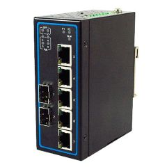 7-Port Unmanaged Gigabit Ethernet Switch with 2 SFP, ATEX certified, Profinet Connectors, Aluminum housing
