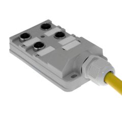 JAC Junction Blocks, 3 Pin, 4 Port, No Led, 5 Meters of Home Run Cable