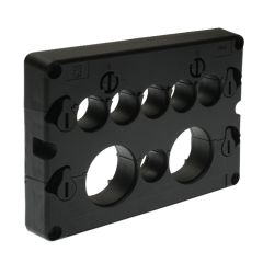 KADL Cable Entry System Frame, 8 Entries, 6 x small grommet (3-16.5mm) and 2 x large grommets (15-32.5mm) ordered separately
