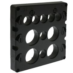 KADL Cable Entry System Frame, 11 Entries, 7 x small grommet (3-16.5mm) and 4 x large grommets (15-32.5mm) ordered separately